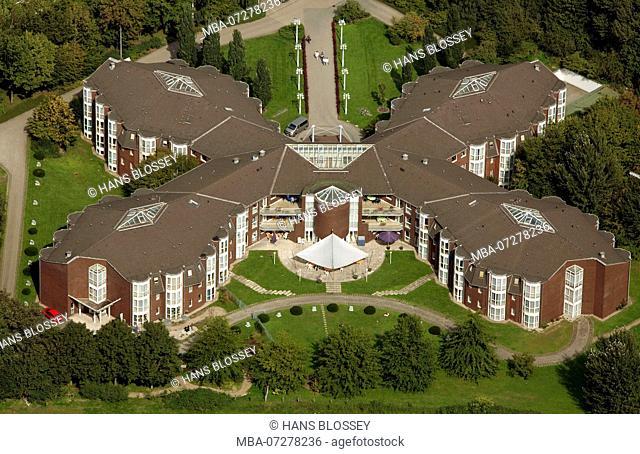 Aerial view, Evangelisches und Johanniter Klinikum Niederrhein GmbH, Duisburg, Ruhr Area, North Rhine-Westphalia, Germany, Europe