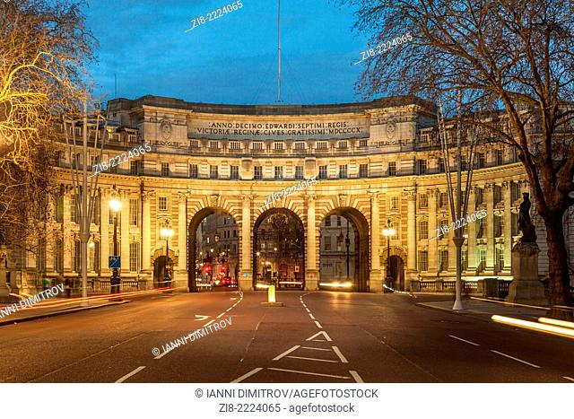Admiralty Arch at night,The Mall,London,England