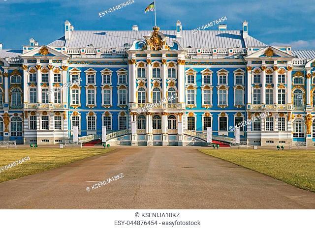 Catherine palace in Pushkin, Tsarskoye Selo, St.Petersburg Russia