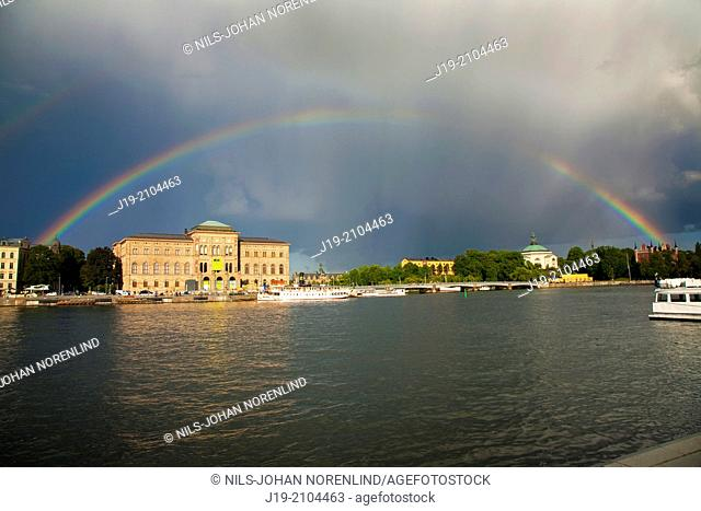 Rainbow over Nationalmuseum, Stockholm Sweden