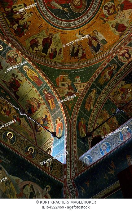 Cathedral of St. Peter and Paul, ceiling frescoes, interior, Constan?a, Romania