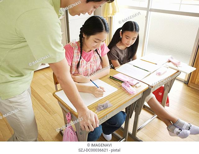 Elementary school students at school