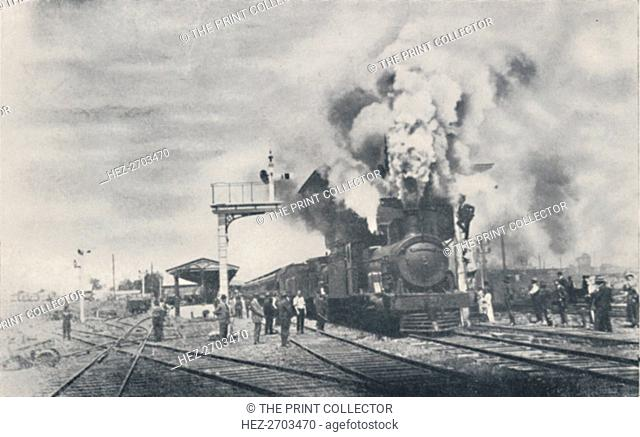 'First Train of the Intercolonial Railway Leaving Kalgoorlie', 1923. Creator: Unknown