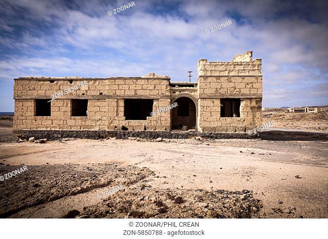 Deserted and abandoned leper sanatorium in Poris de Abona, Tenerife, canary Islands, Spain