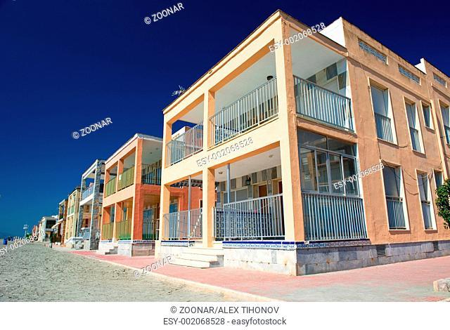 Apartment buildings near the sea in Santa Pola