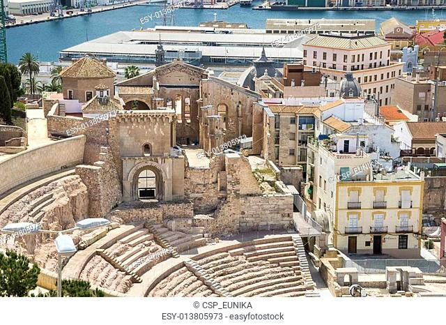 Roman Amphitheater in Cartagena, Spain