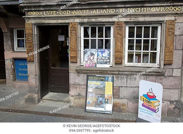 John Knox House Museum, Royal Mile Street, Edinburgh, Scotland