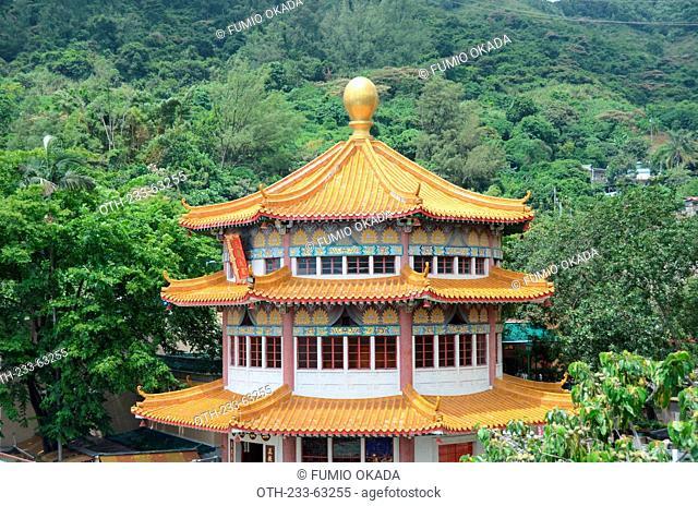 Main building of Yuen Yuen Institute, Lo Wai, Tsuen Wan, Hong Kong