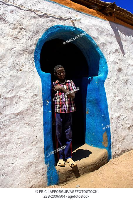 Traditional Nubian Architecture Of A Doorway, Gunfal, Sudan