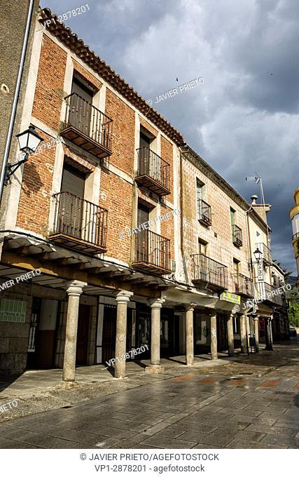Portals of the Plaza Mayor de Piedrahita. Piedrahiita. Valley of the Corneja. Avila. Castilla y León. Spain