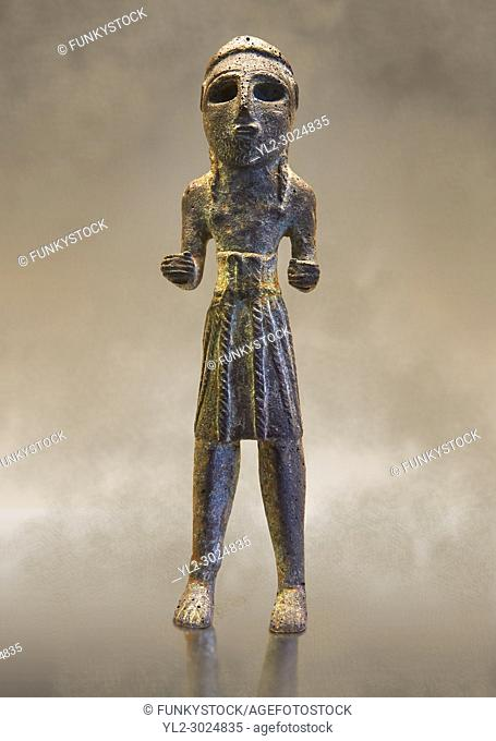 Copper statuettes of warriors with a short loincloth which originally held weapons in their hands, as well as representation of a woman