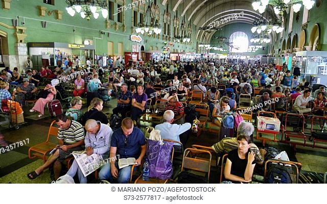 Inside the Kievski Station, Moscow, Russia