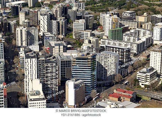 Aerial view of Auckland New Zealand