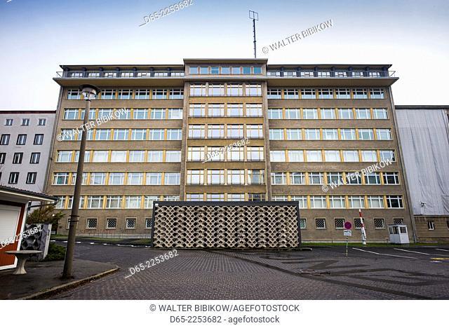 Germany, Berlin, Friendrichshain, Stasi Museum, DDR-era secret police museum in former secret police headquarters, exterior
