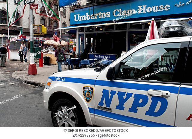 NYPD car in Manhattan New York. Police car