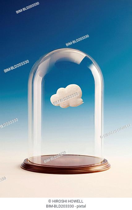 Cloud inside glass jar