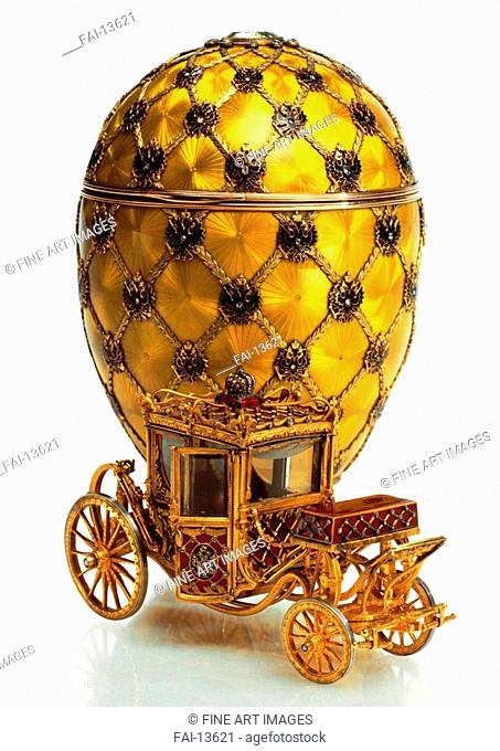 The Imperial Coronation Egg (Nicholas II presented to his spouse, Empress Alexandra Fyodorovna). Pershin, Michail, (Fabergé manufacture) (19th century)