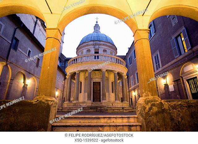 The tempietto of San Pietro in Montorio, by Bramante, Rome