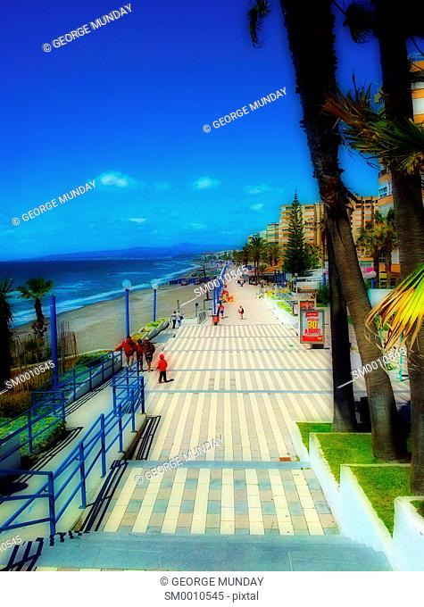 The Seafront at Torrox Costa, Costa del Sol, Malaga, Spain