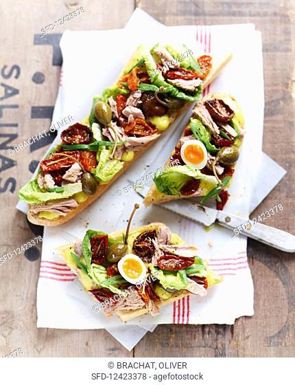 Salad nicoise baguettes