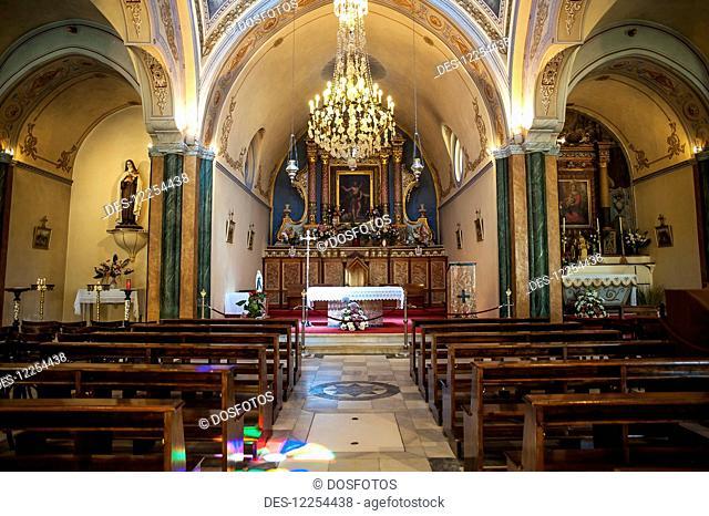 Fira's Catholic Cathedral dedicated to Saint John The Baptist; Santorini, Greece
