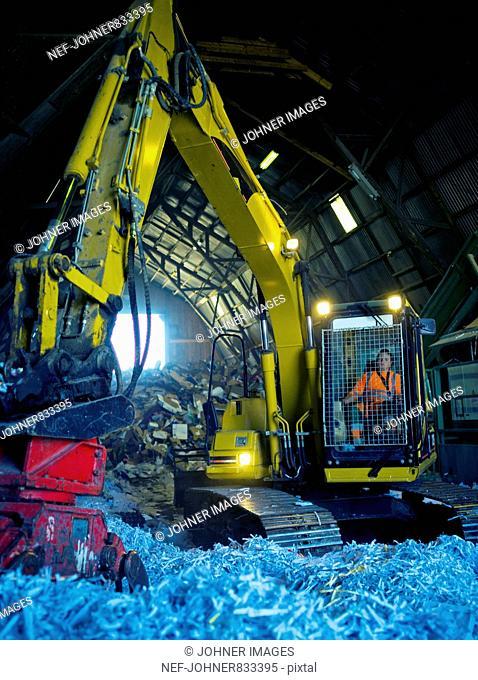 An excavator, Sweden