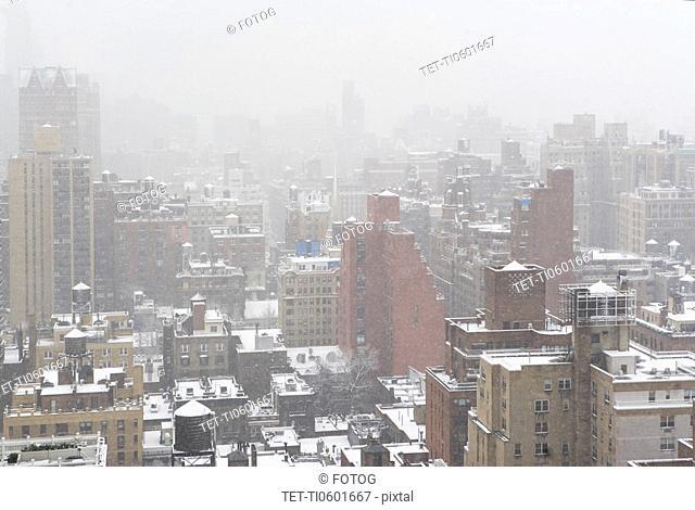 Cityscape in winter