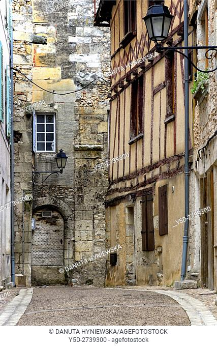 Rue Mignot, Mignor street, old town of Périgueux, World Heritage Sites of the Routes of Santiago de Compostela in France, Dordogne, Aquitaine, France, Europe