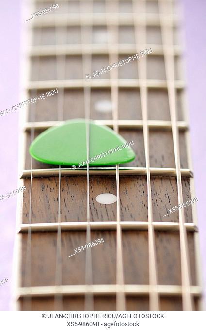 guitar and pick