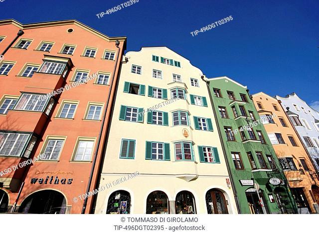 Austria, Innsbruck, typical houses