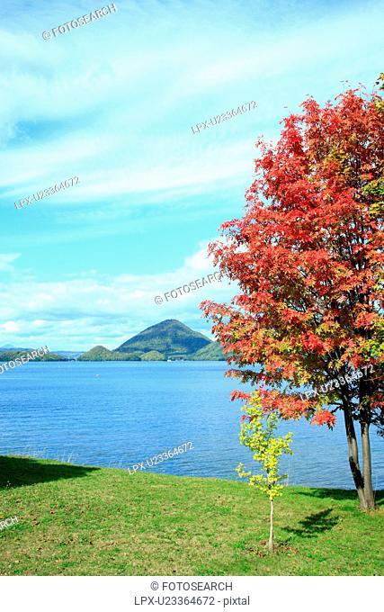 Lake Toya in Autumn