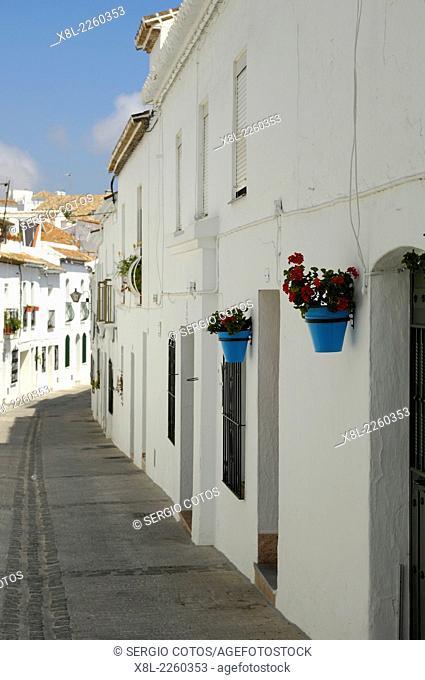 Street, Mijas, Malaga province, Andalusia, Spain