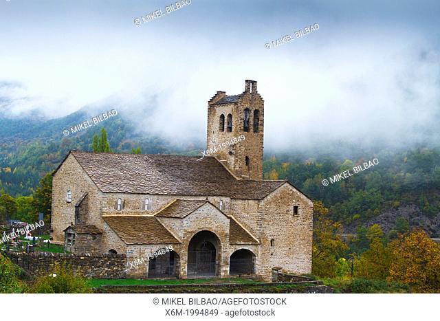 San Miguel church. Linas de Broto. Torla, Sobrarbe county, Huesca, Aragon, Spain