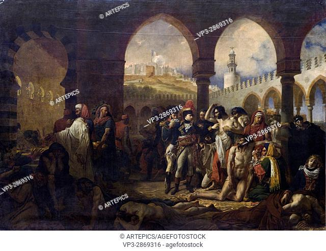 Baron Antoine-Jean Gros. Bonaparte visitant les pestiférés de Jaffa (1799) - Bonaparte visiting the pestiferous ones of Jaffa (1799). 1804