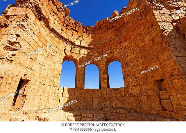 Church ruins at the desert ruins of Rasafa, Syria