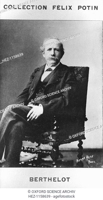 Pierre Eugene Marcellin Berthelot French organic chemist and politician, c1885. Berthelot (1827-1907) worked on explosives and dyes