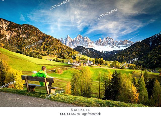 Santa Maddalena church, Funes Valley, Trentino-Alto Adige, Italy