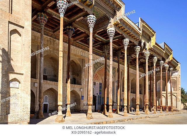 Bolo Hauz Mosque, also known as Bolo Khauz Mosque, Bukhara, Uzbekistan