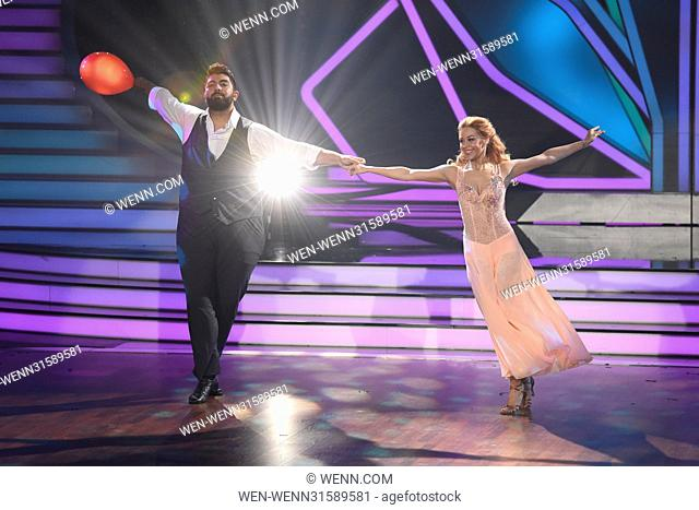 German RTL Live TV Show 'Let's Dance' at MMC Studios. Featuring: Faisal Kawusi, Oana Nechiti Where: Cologne, Germany When: 26 May 2017 Credit: WENN