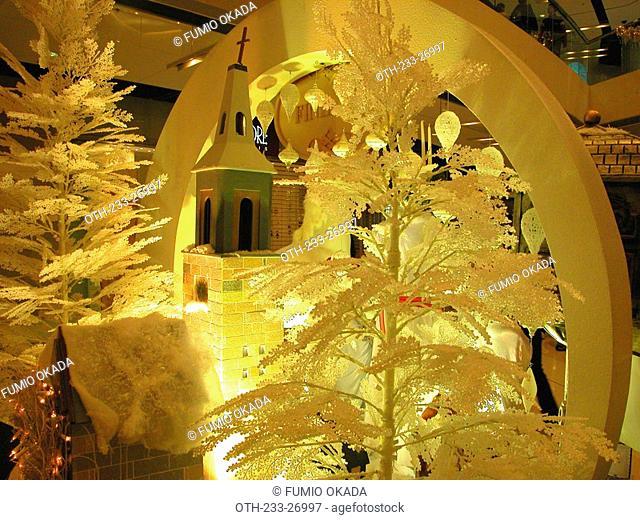 Christmas decorations at 2IFC shopping mall, Hong Kong