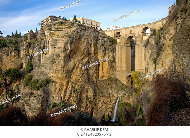 View of Ronda and cliffs, Andaluc'a, Spain