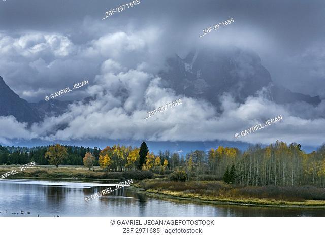 Autumn in Grand Tetons NP. Wyoming