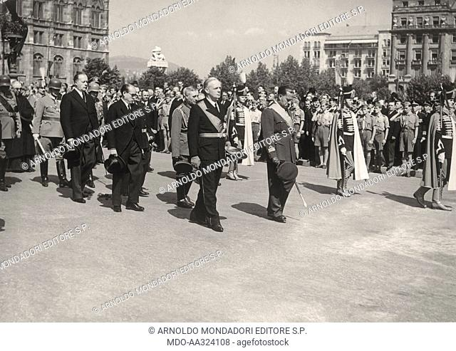 The exequies of Istvan Horthy. Italian Minister of Foreign Affairs Galeazzo Ciano and German Minister of Foreign Affairs Joachim von Ribbentrop participate to...