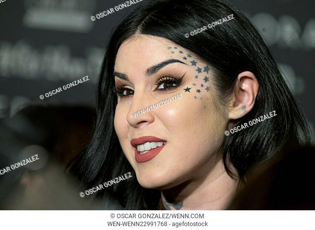 Tattoo artist Kat Von D presents her new makeup line for Sephora at Cines Callao City Lights in Madrid Featuring: Kat Von D Where: Madrid
