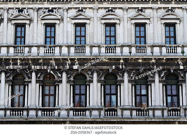 Facade on St. Mark's Square in Venice, Italy