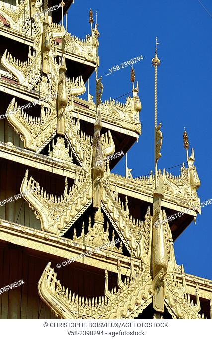Myanmar, Mandalay, The royal palace