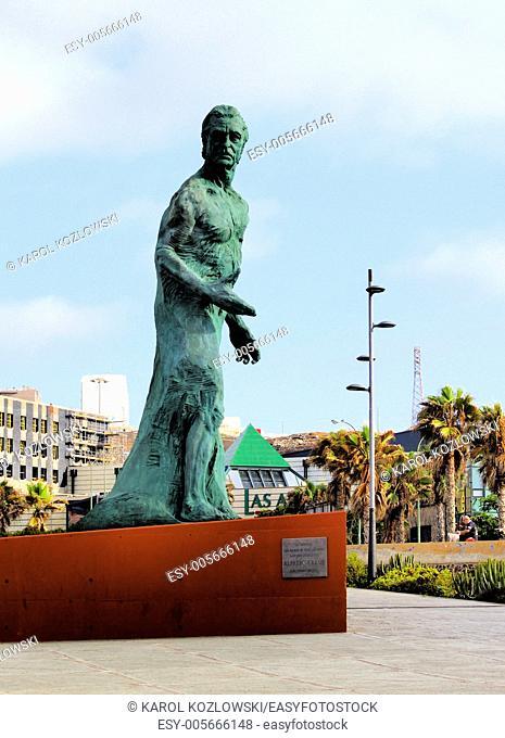 Alfredo Kraus Monument in Las Palmas on Gran Canaria, Canary Islands, Spain