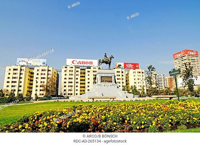 Monument of General Baquedano, Plaza Baquedano, Santiago de Chile, Chile