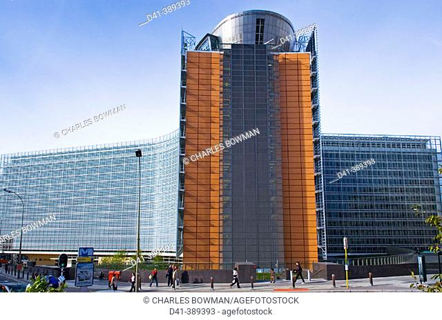 Belgium, Brussels. Berlaymont building