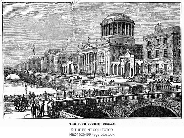 The Four Courts, Dublin, 19th century
